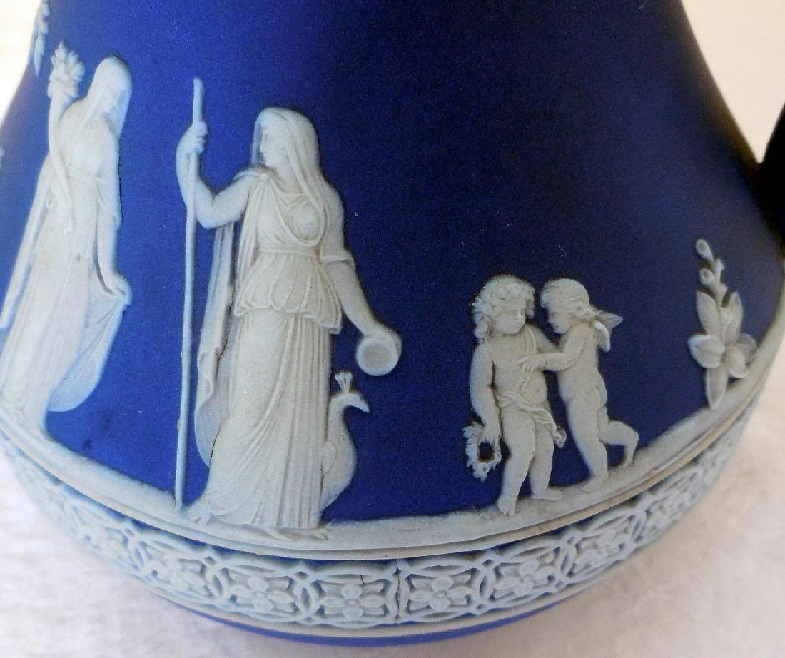 Wedgwood Dark Blue Jasperware Pitcher - 10