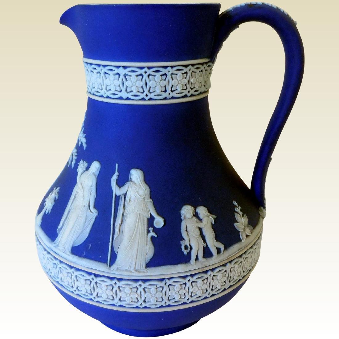 Wedgwood Dark Blue Jasperware Pitcher
