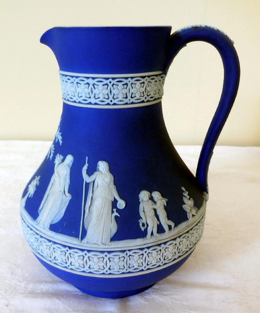 Wedgwood Dark Blue Jasperware Pitcher - 2
