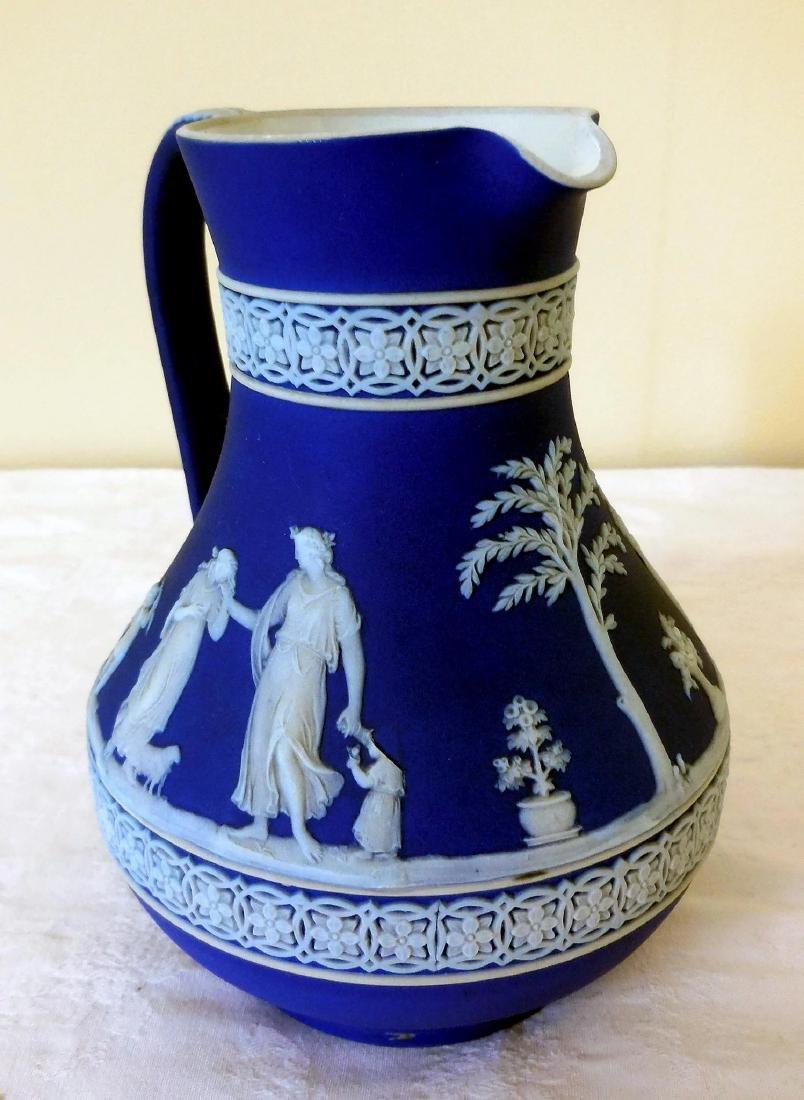 Wedgwood Dark Blue Jasperware Pitcher - 3