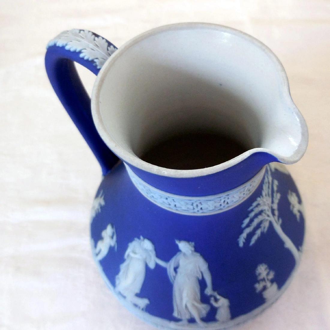 Wedgwood Dark Blue Jasperware Pitcher - 7