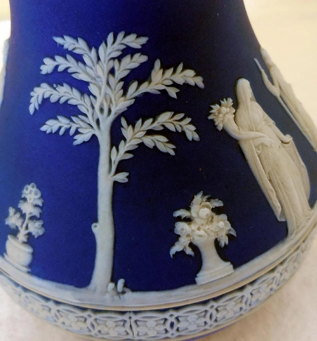 Wedgwood Dark Blue Jasperware Pitcher - 9