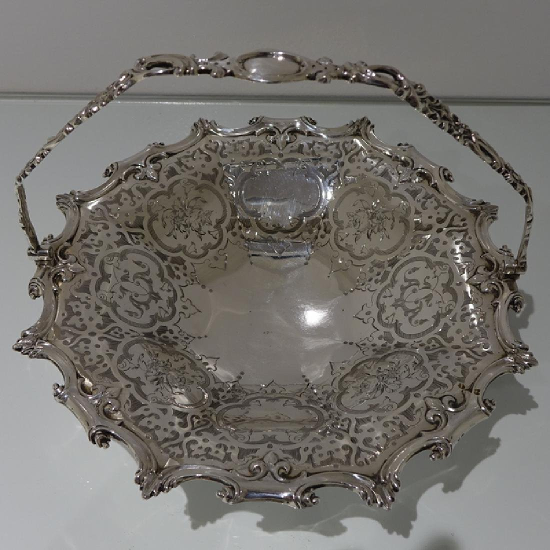 19th Century Sterling Silver Antique Victorian Cake