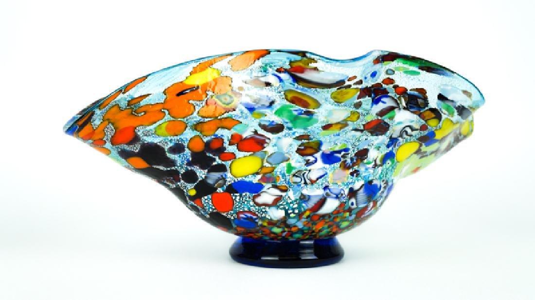 MURANO GLASS BOWL ACQUAMARINE FANTASY - 2