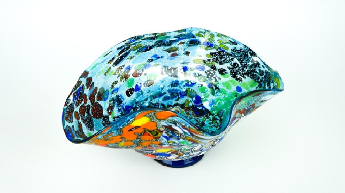 MURANO GLASS BOWL ACQUAMARINE FANTASY - 3