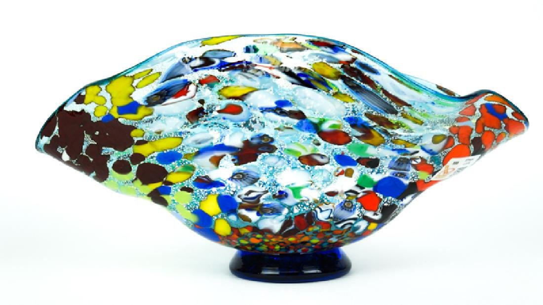 MURANO GLASS BOWL ACQUAMARINE FANTASY - 6