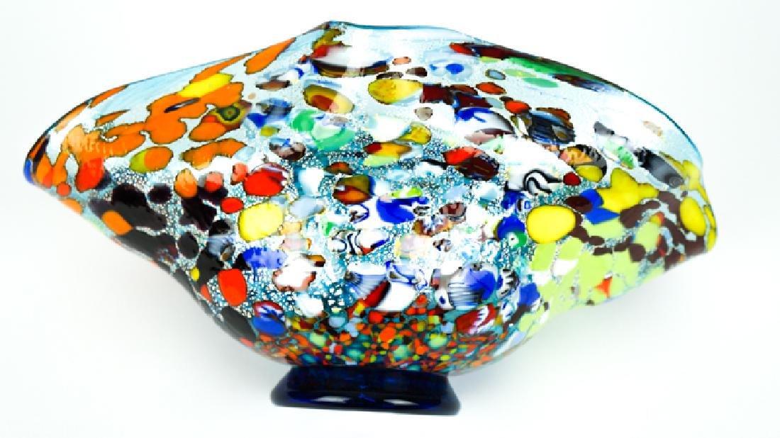 MURANO GLASS BOWL ACQUAMARINE FANTASY - 7