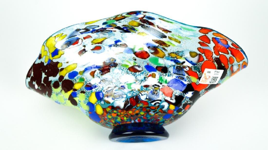 MURANO GLASS BOWL ACQUAMARINE FANTASY - 8