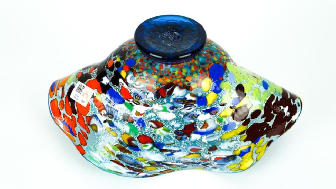 MURANO GLASS BOWL ACQUAMARINE FANTASY - 9