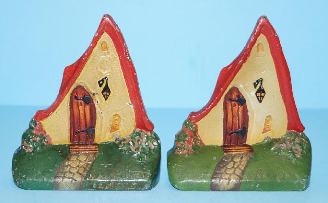 Cottage Cast Iron Bookends