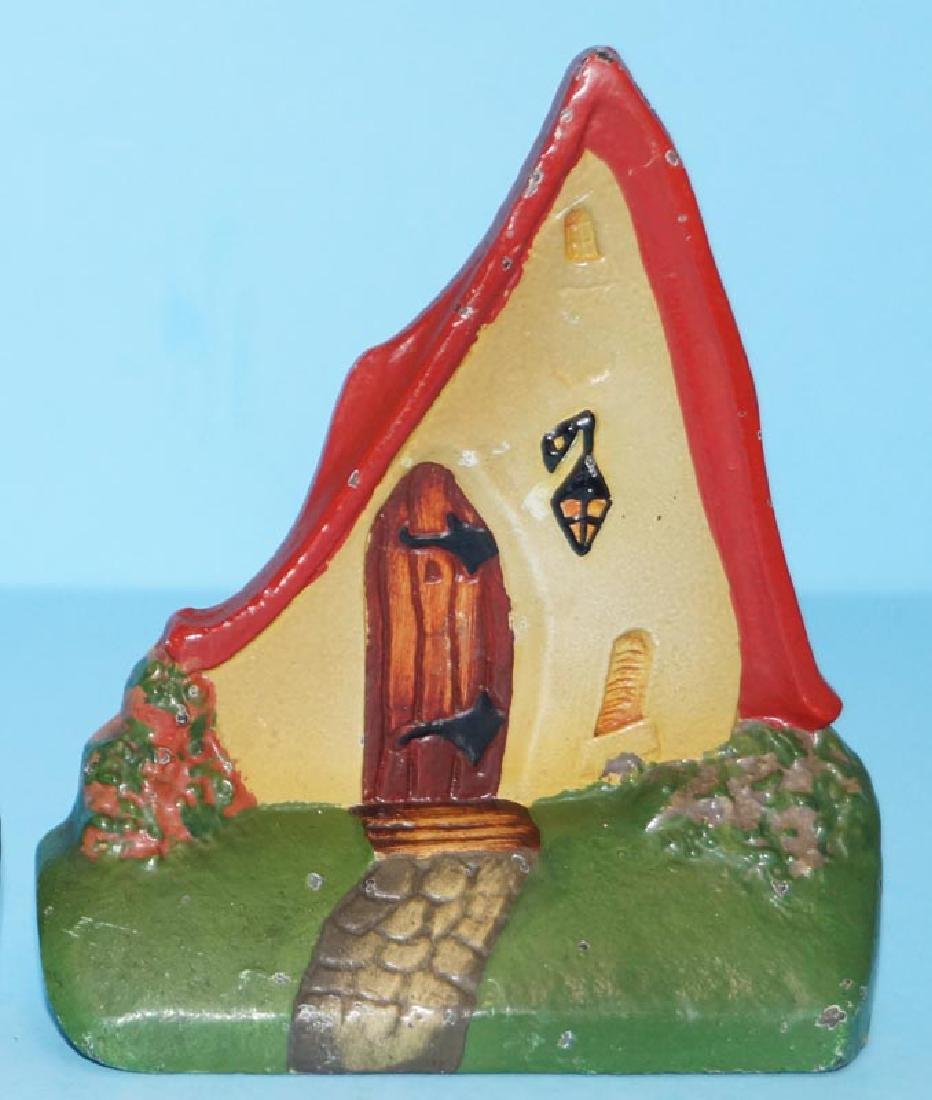Cottage Cast Iron Bookends - 3