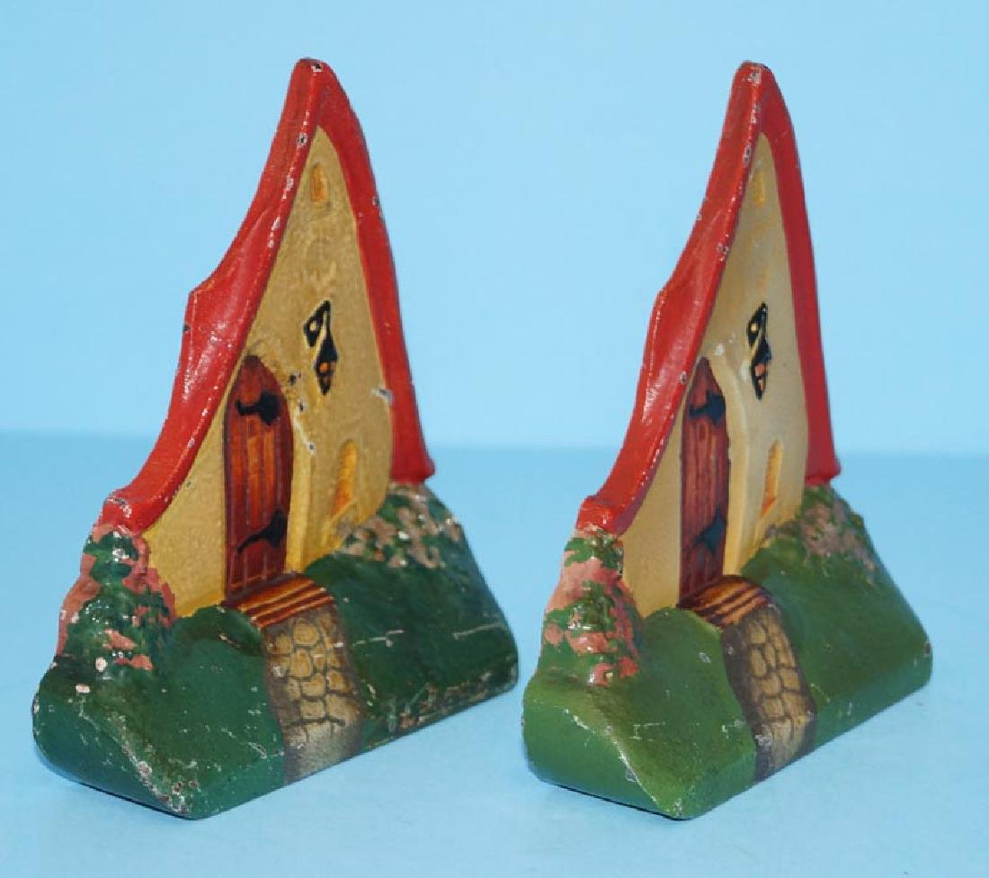 Cottage Cast Iron Bookends - 4