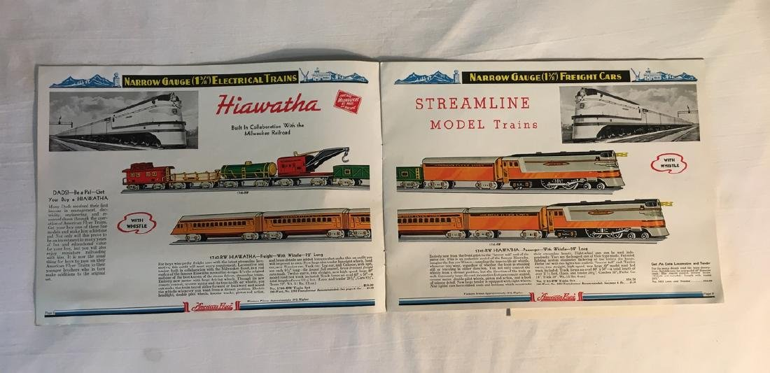 American Flyer Trains, Illustrated Gilbert Toy Catalogs - 4