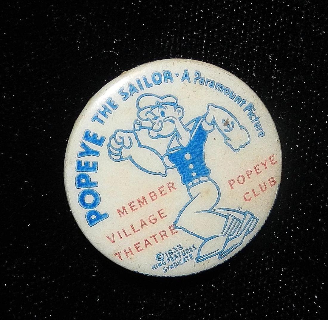 Vintage Popeye the Sailor Pinback Button- Paramount - 2