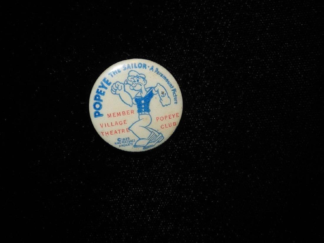 Vintage Popeye the Sailor Pinback Button- Paramount - 3