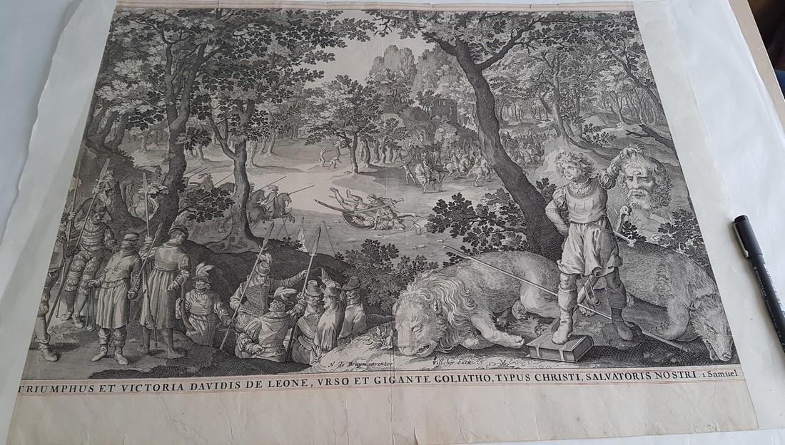 Nicolaes De Bruyn Inventor Engraving David & Goliath - 4