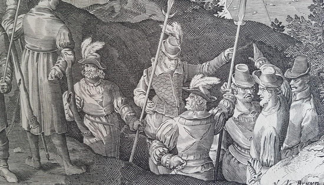 Nicolaes De Bruyn Inventor Engraving David & Goliath - 5