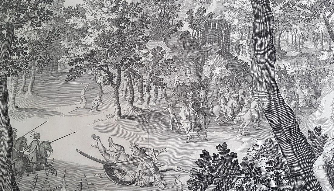 Nicolaes De Bruyn Inventor Engraving David & Goliath - 7
