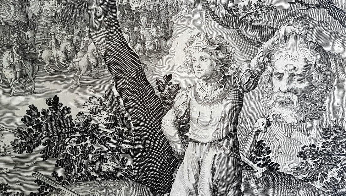 Nicolaes De Bruyn Inventor Engraving David & Goliath - 9
