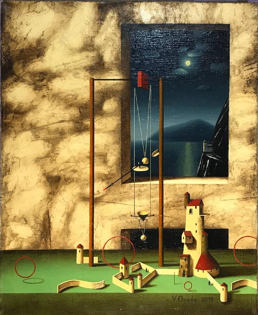 Vincento Osada Painting Moonlit Night at the Lighthouse