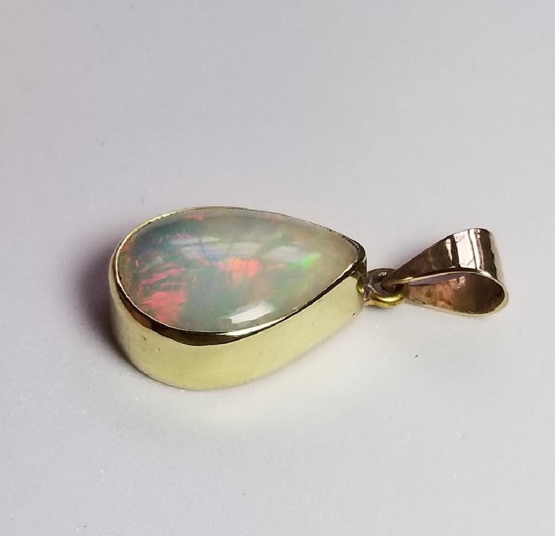 18k Gold Opal Pendant - 3