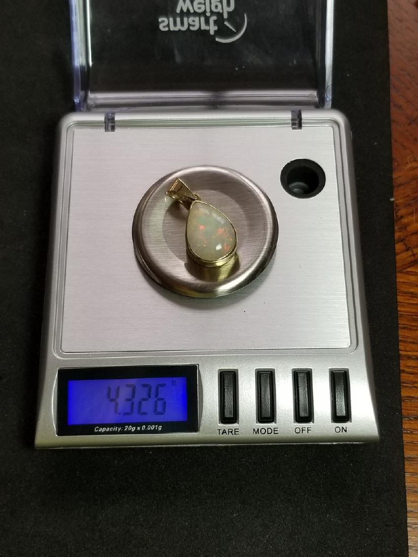 18k Gold Opal Pendant - 6
