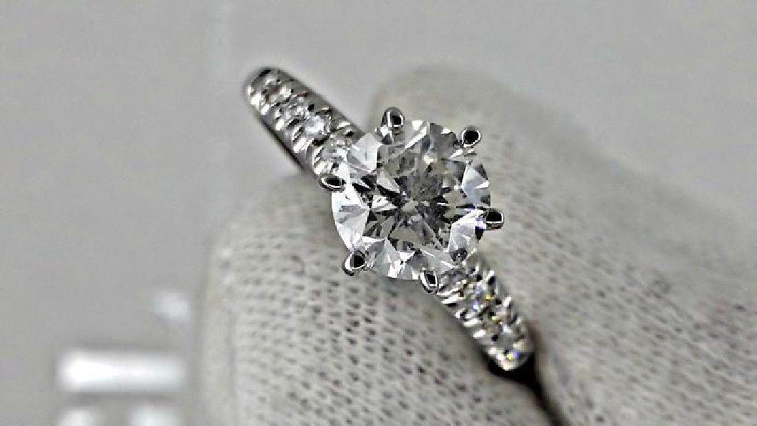 1.10 ct round diamond ring 14 k gold