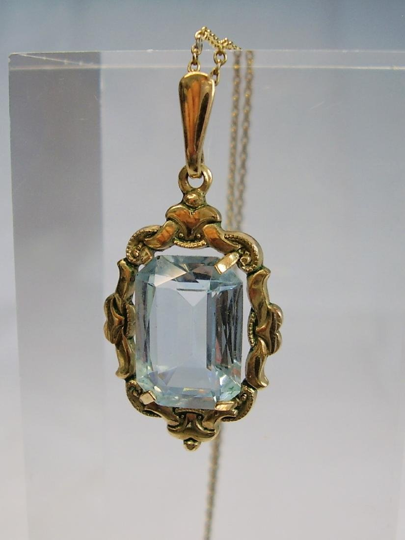 Art-Deco Pendant with chain - 3
