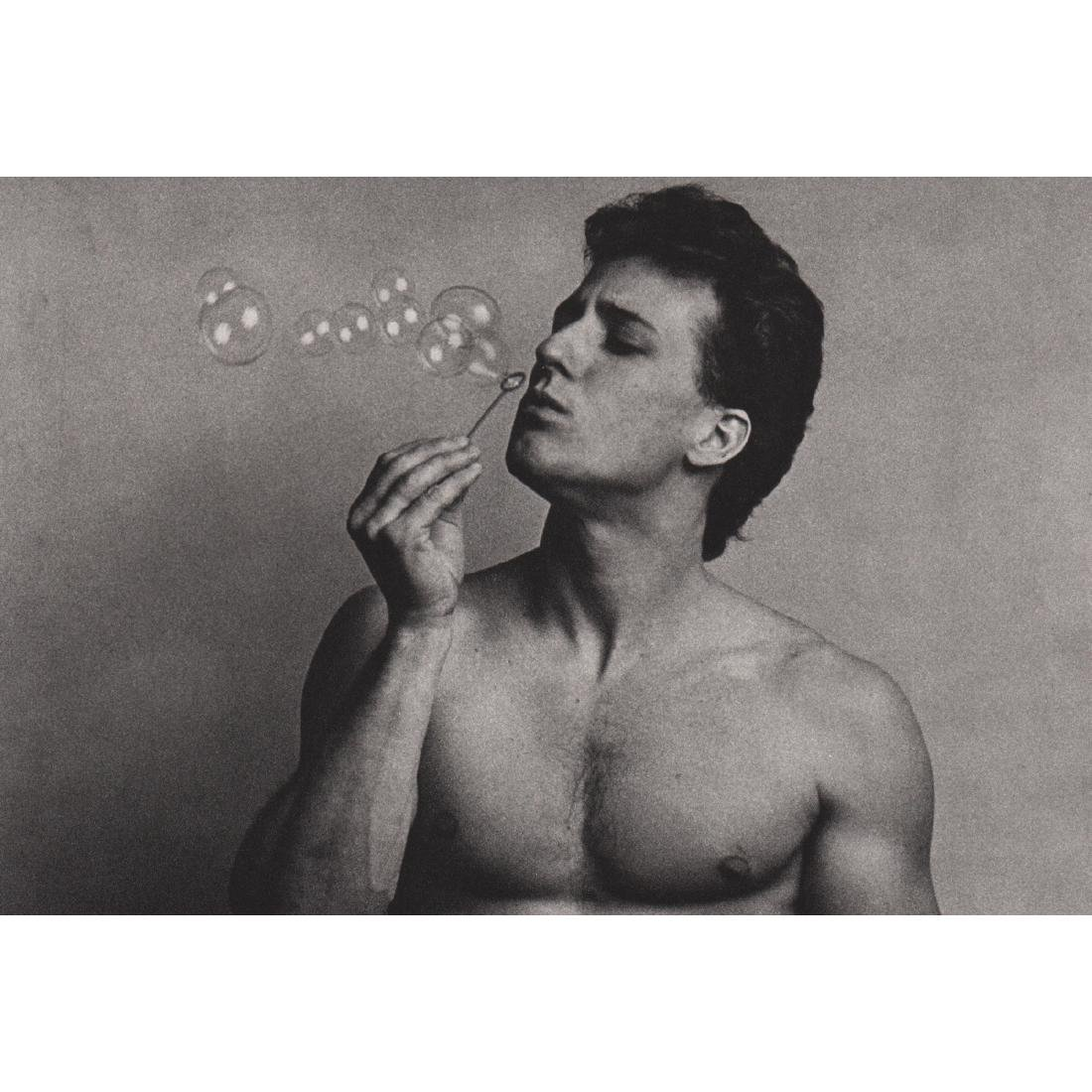DUANE MICHALS - Blowing Bubbles