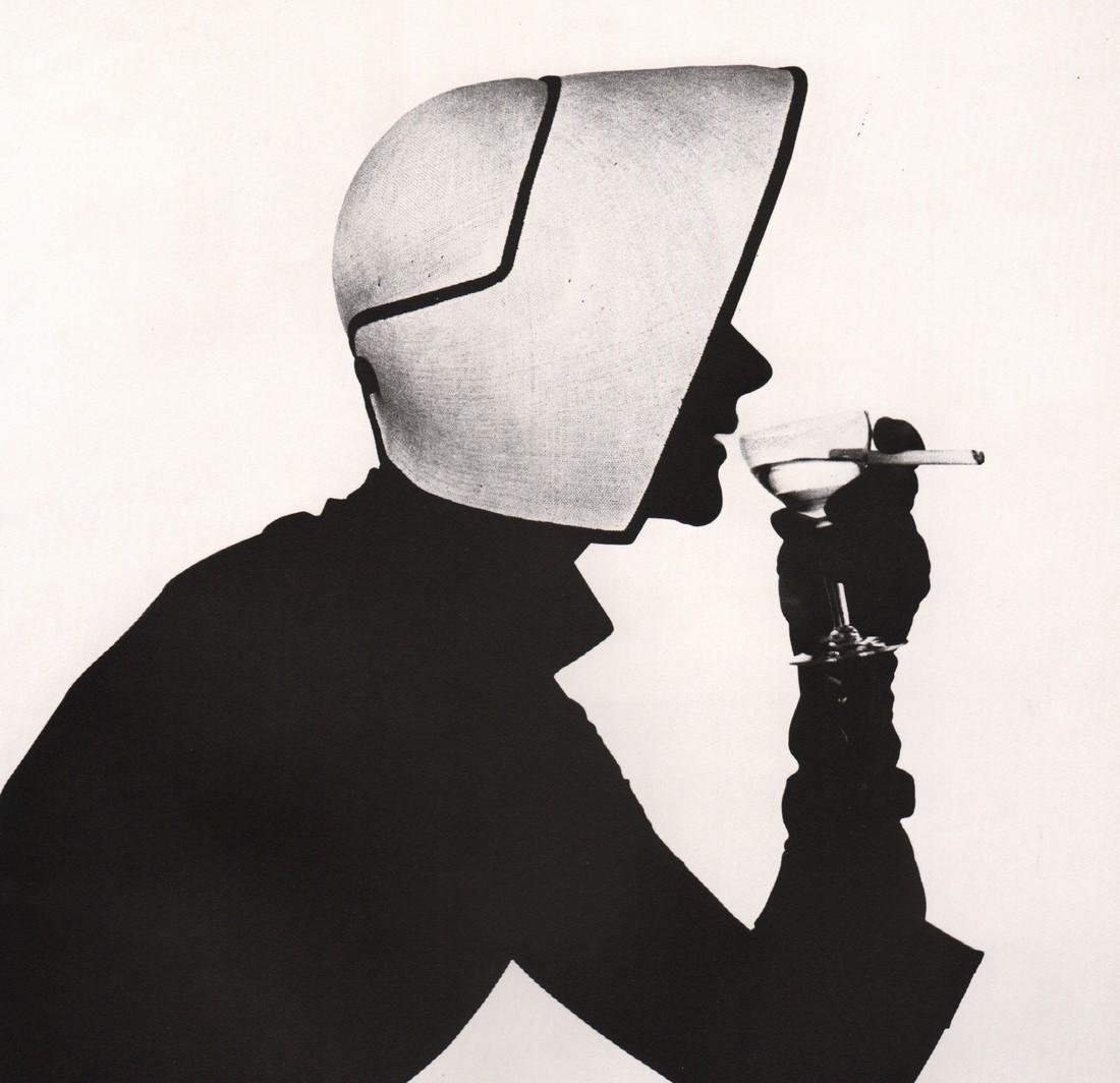 IRVING PENN - Woman in Dior Hat w Martini, Lisa