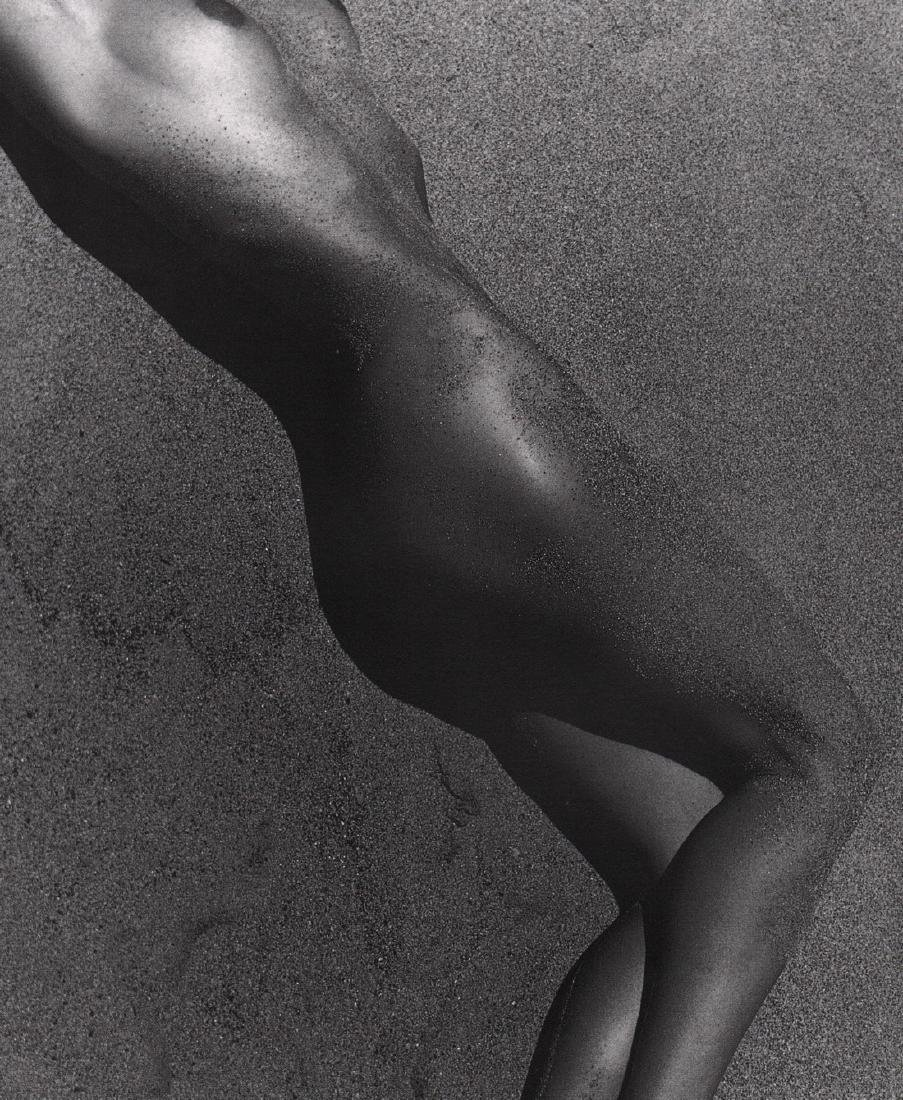 HERB RITTS - Carrie in Sand, Paradise Cove, 1988