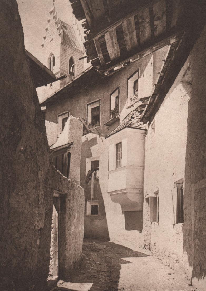 ALFRED STIEGLITZ- A Street in Sterzing, The Tyrol, 1890