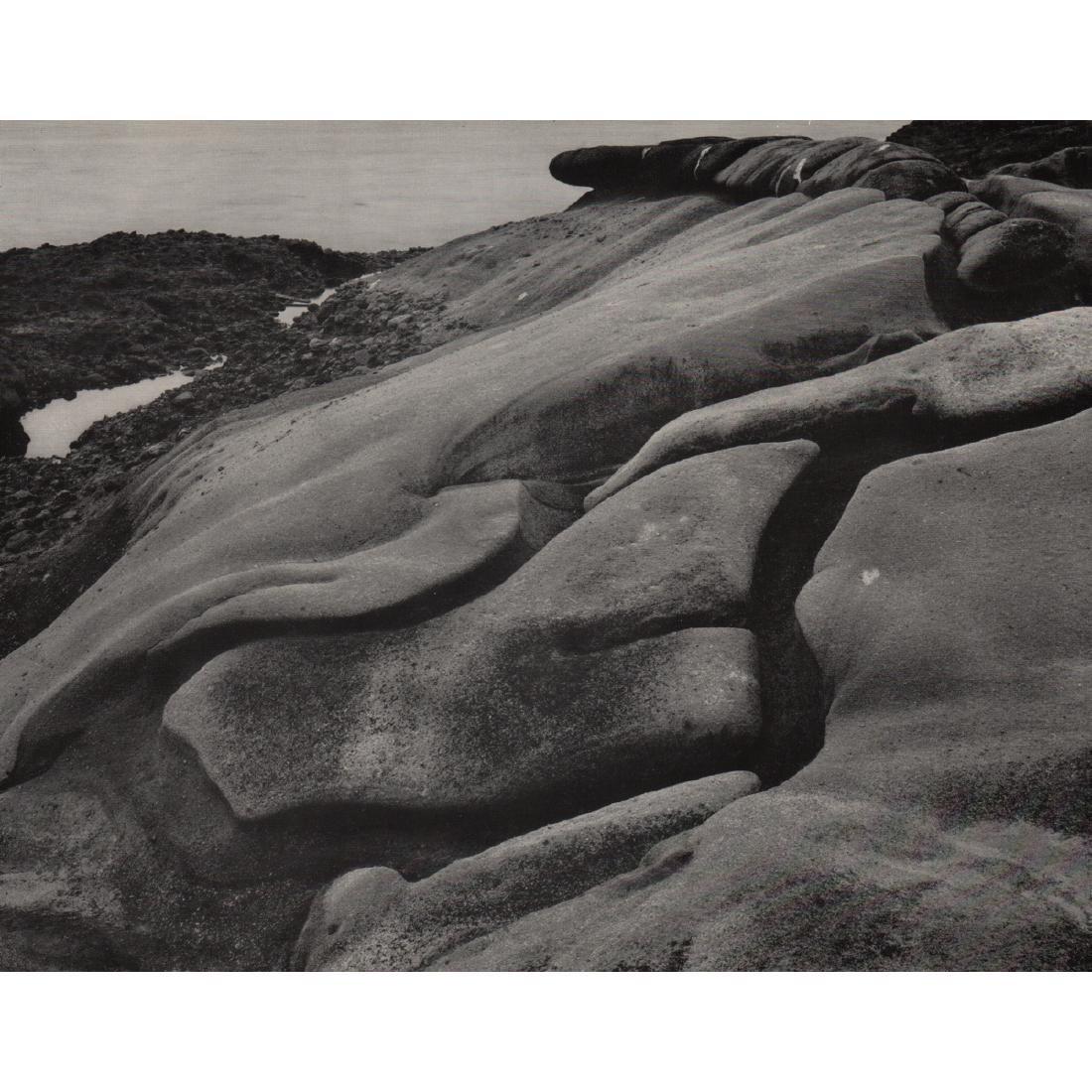 EDWARD WESTON - Rock Erosion, South Shore, 1938