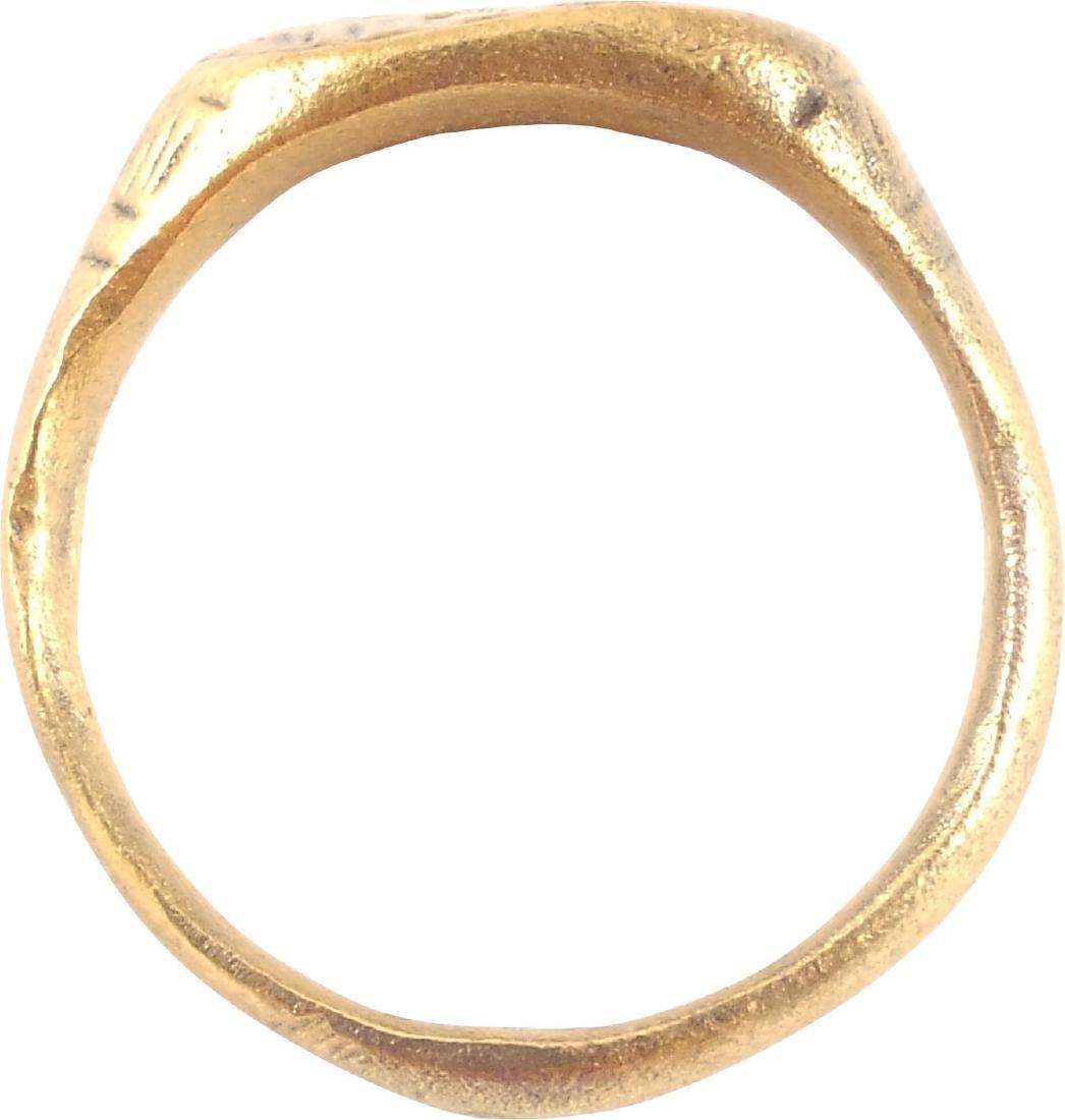 GOOD EARLY CHRISTIAN PILGRIM'S RING 7th-10th CENTURY - 2