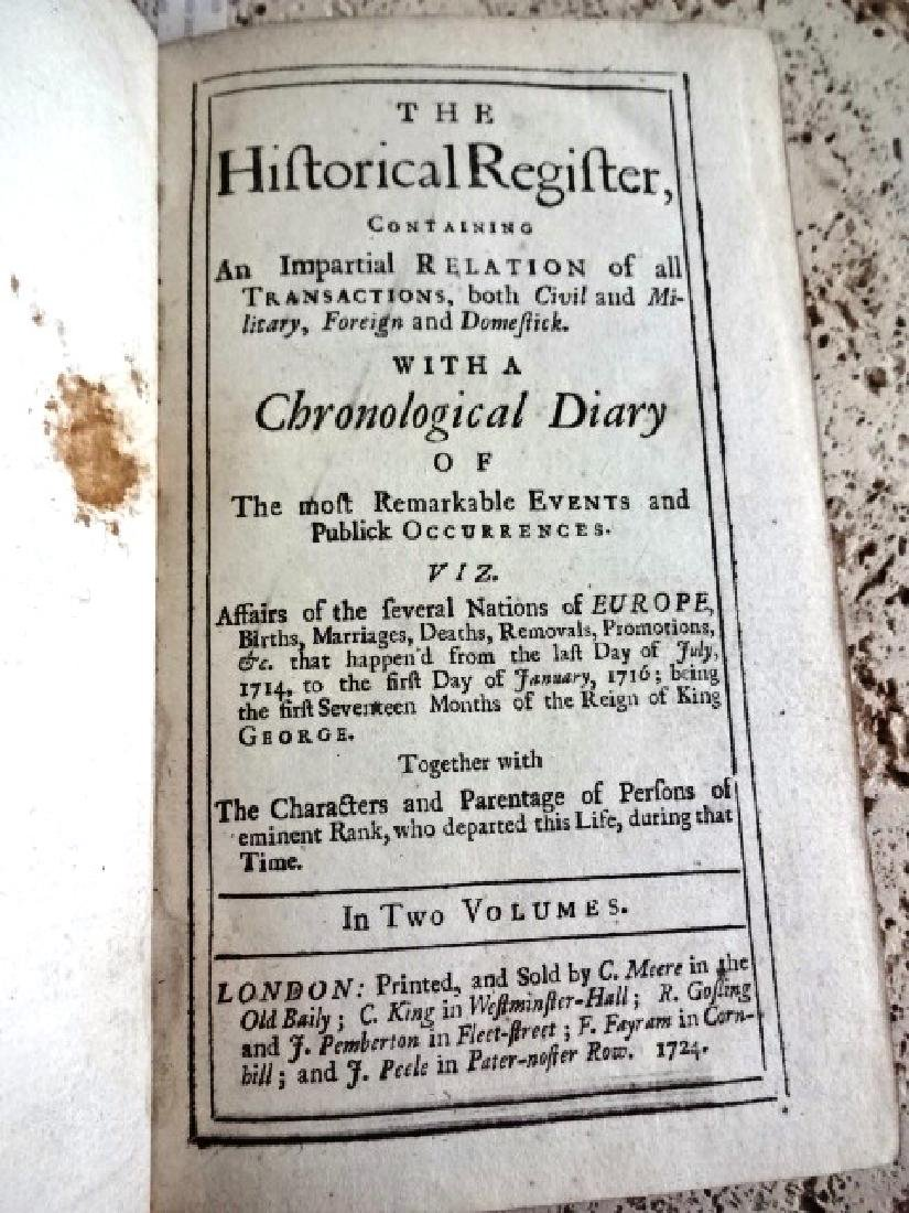 1724 Historical Register Colonial New Lord Baltimore