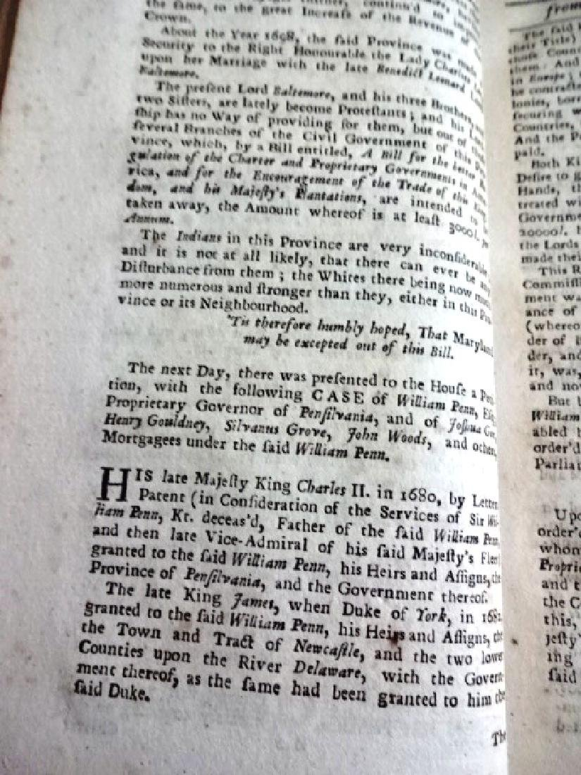 1724 Historical Register Colonial New Lord Baltimore - 2