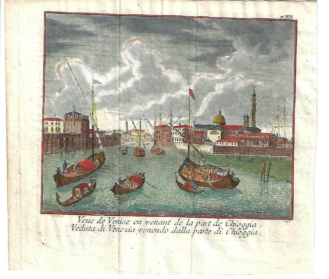 17th C Handcolored Venice Scene