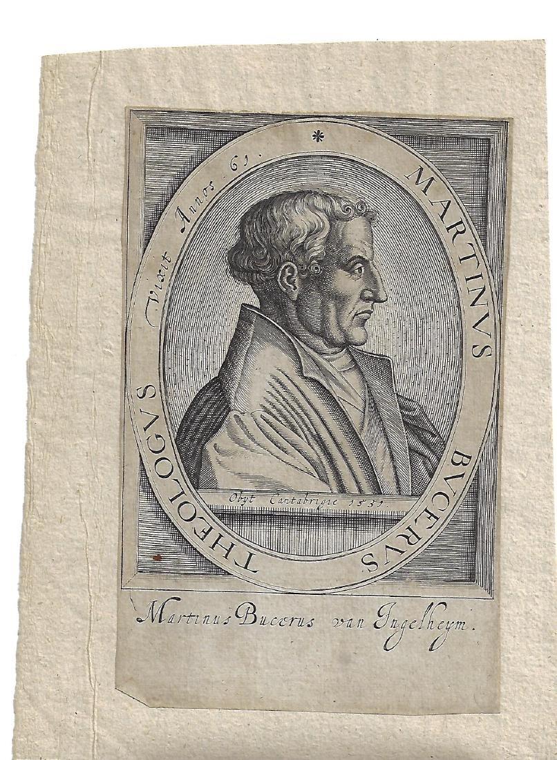 1557 Engraving of Martinus Bucerus of Inglehym