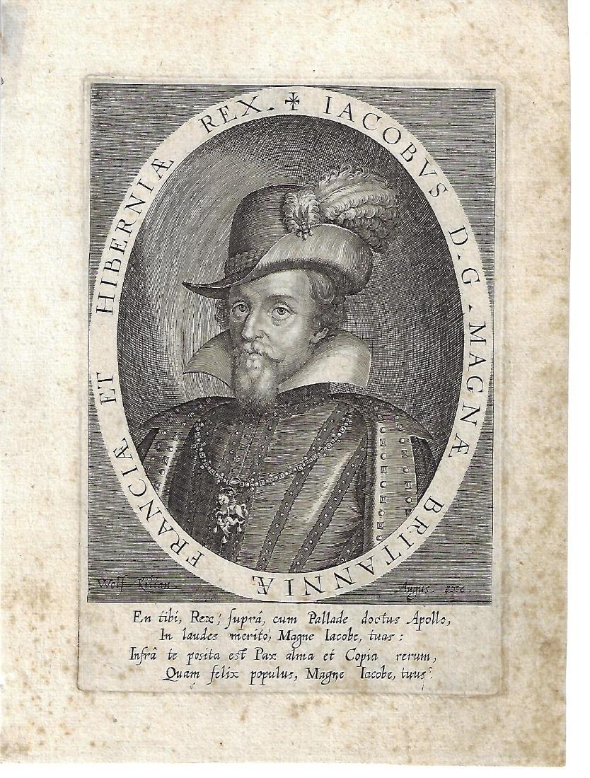1620 Engraving of King James I