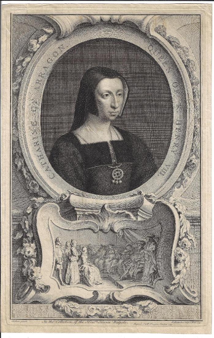 1744 Houbraken Engraving Catherine of Aragon