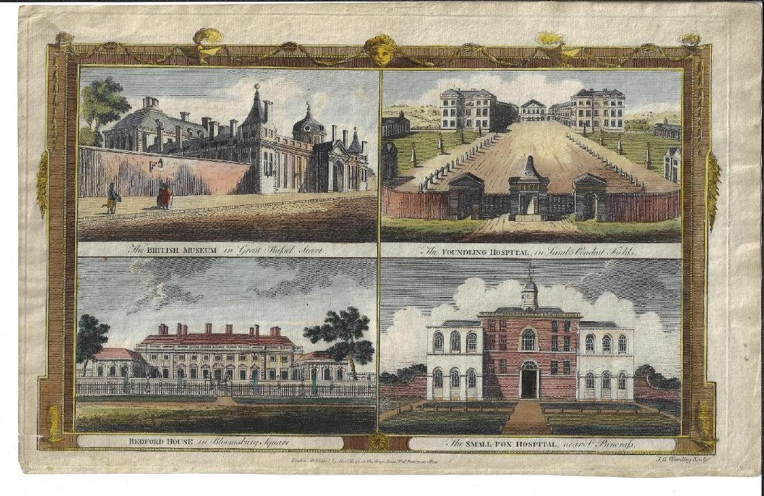 1784 Hand Colored Engraving British Museum