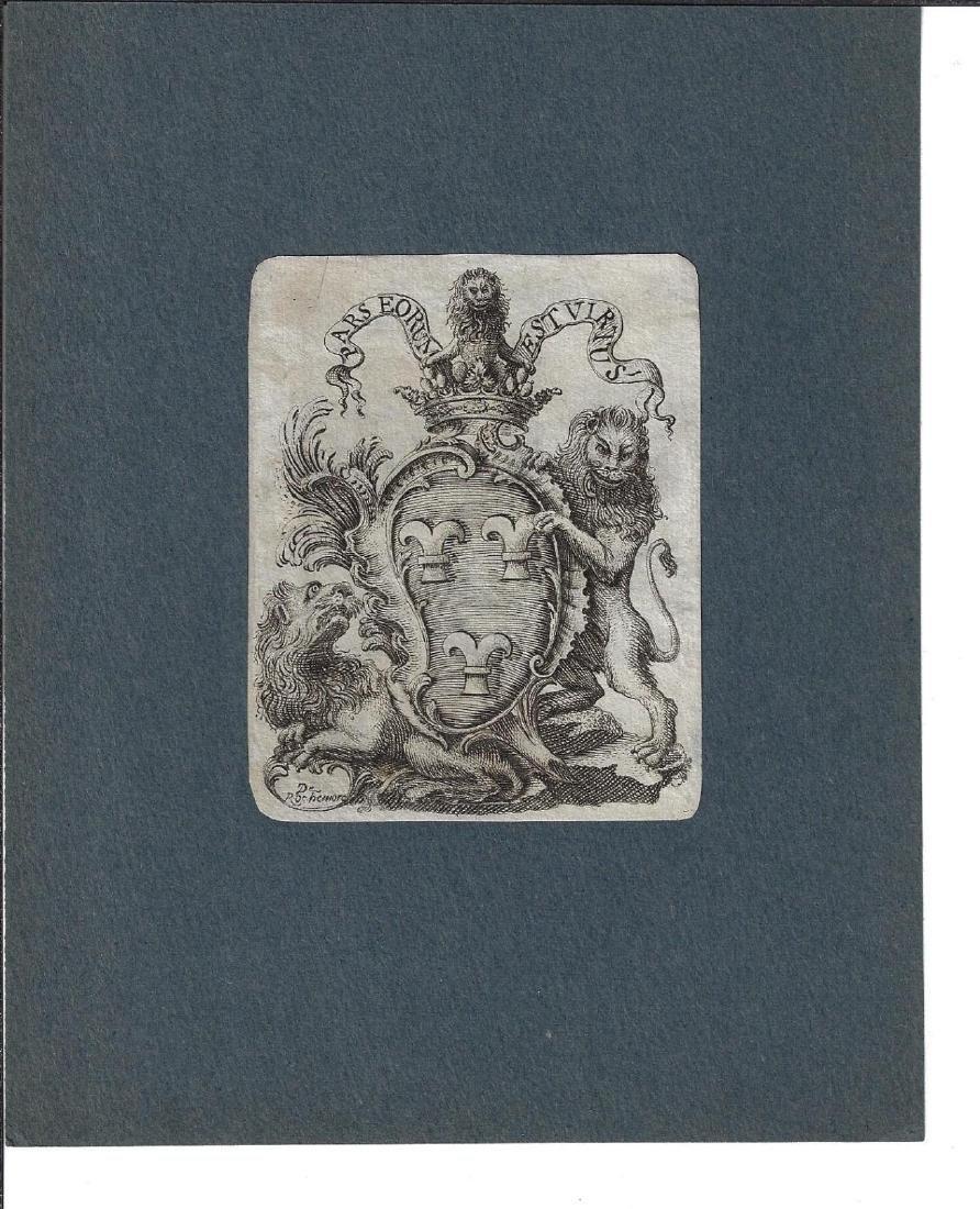 18th C Heraldic Arms Engraving