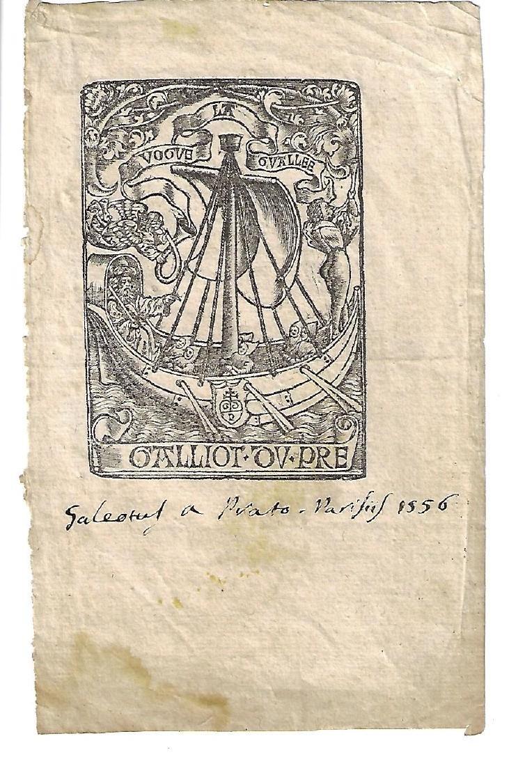 1556 Printer's Mark w/ Inscription