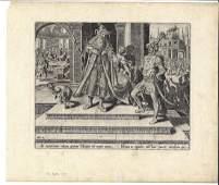 c1580 Philip Galle Engraving Esther