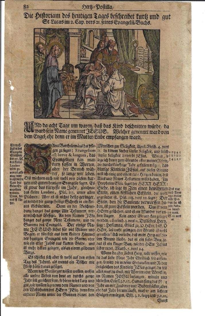Two 16th C Handcolored Engravings Religious Work - 2