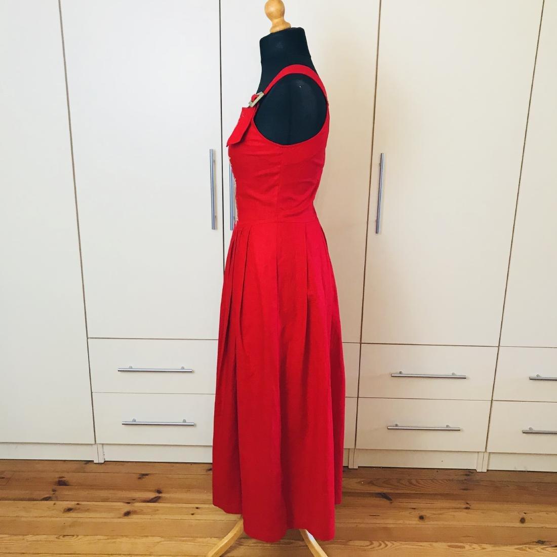 Vintage Women's Alphorn Linen Austrian Tyrolean Dress - 5