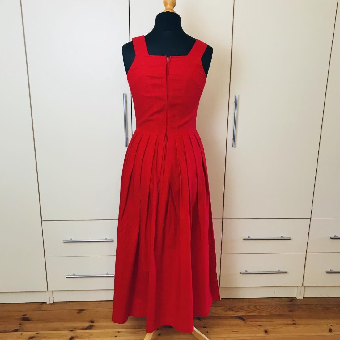 Vintage Women's Alphorn Linen Austrian Tyrolean Dress - 6