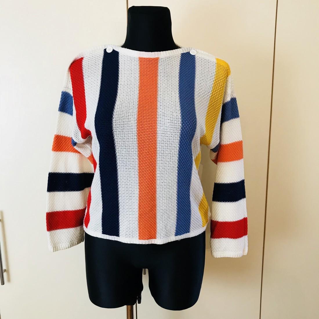 Vintage Women's MOSAIK Crochet Sweater Size EUR 40 US