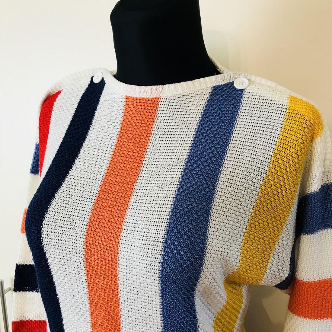 Vintage Women's MOSAIK Crochet Sweater Size EUR 40 US - 2