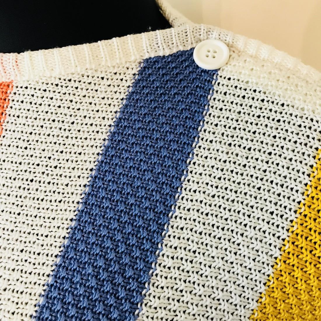 Vintage Women's MOSAIK Crochet Sweater Size EUR 40 US - 3